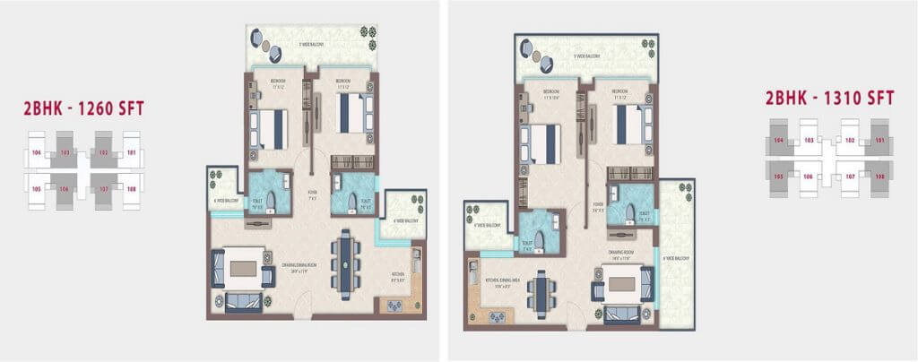 Emerald Heights Faridabad Floor Plan