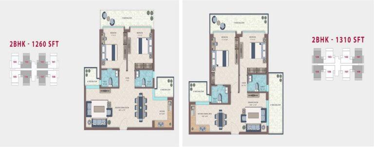 Emerald Heights Faridabad Floor Plan