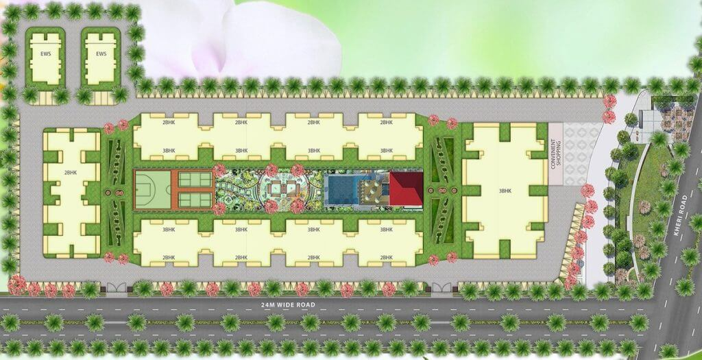 Emerald Heights Faridabad Layout Plan